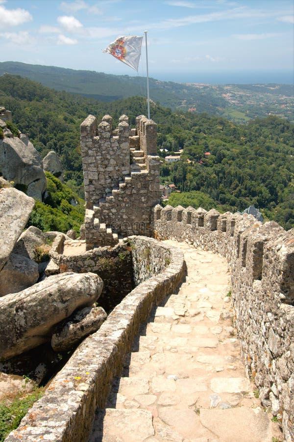 Castelo do Moorish, Portugal fotos de stock