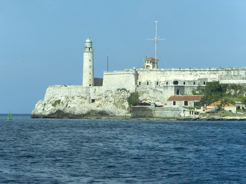 Castelo do morro do EL em Havana fotografia de stock