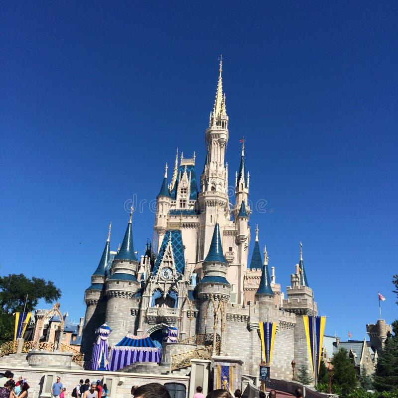Castelo do mundo de Disney fotos de stock
