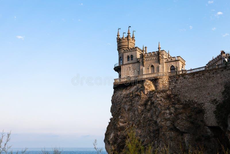 Castelo do ninho da andorinha em Aurora Cliff em Crimeia fotografia de stock royalty free