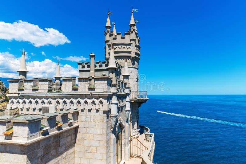 Castelo do ninho da andorinha em Yalta, Crimeia, Ucrânia imagem de stock royalty free