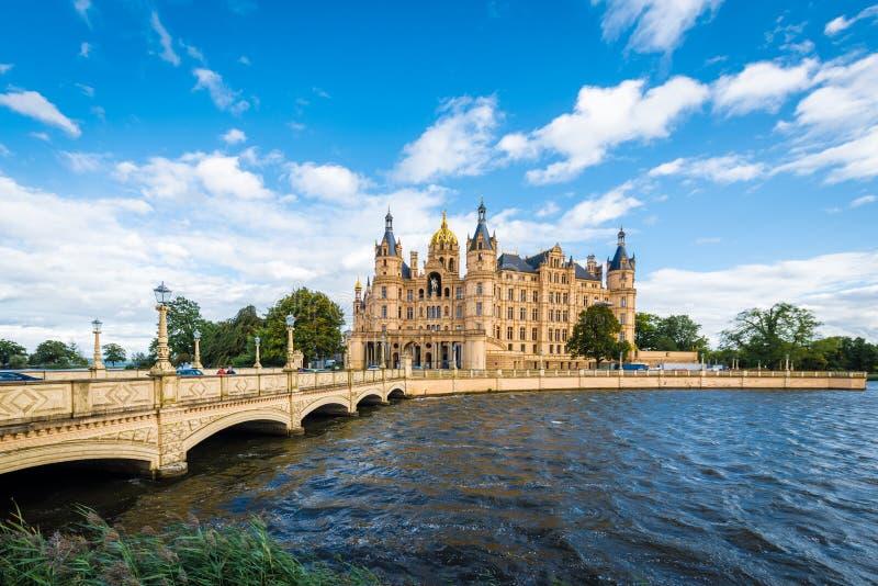 Castelo do palácio de Schwerin ou do Schwerin, Alemanha do norte fotos de stock royalty free