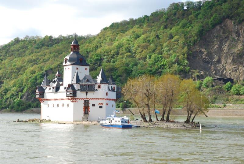 Castelo do pedágio de Pfalzgrafenstein, Kaub, Alemanha fotografia de stock royalty free