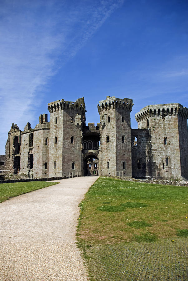 Castelo do Raglan fotografia de stock