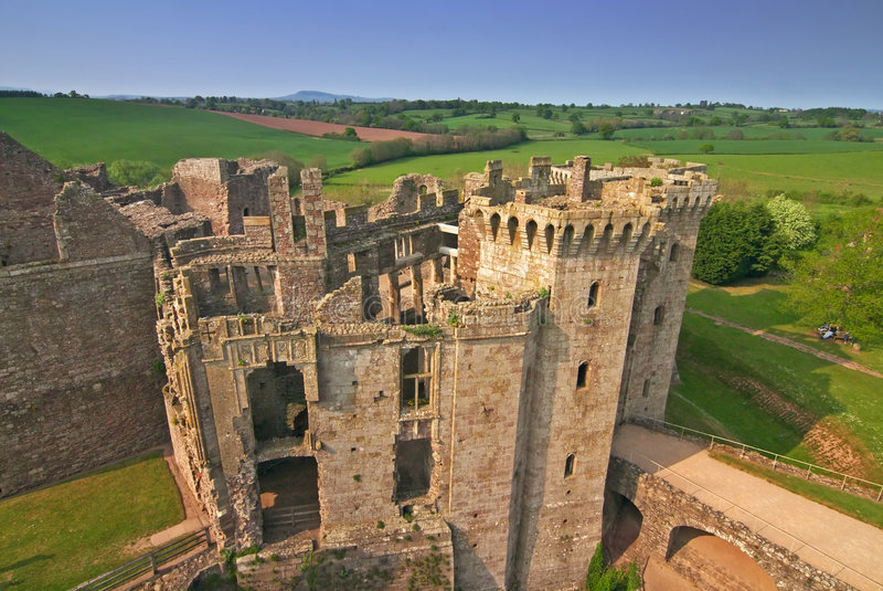 Castelo do Raglan imagens de stock