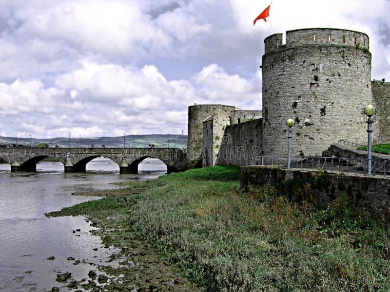 Castelo do rei John, Ireland fotos de stock