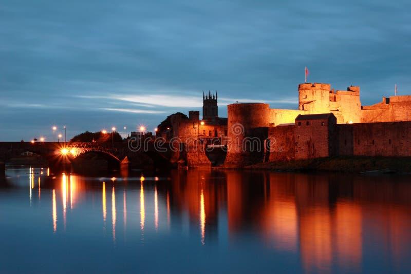 Castelo do rei John, Limerick, Ireland imagens de stock