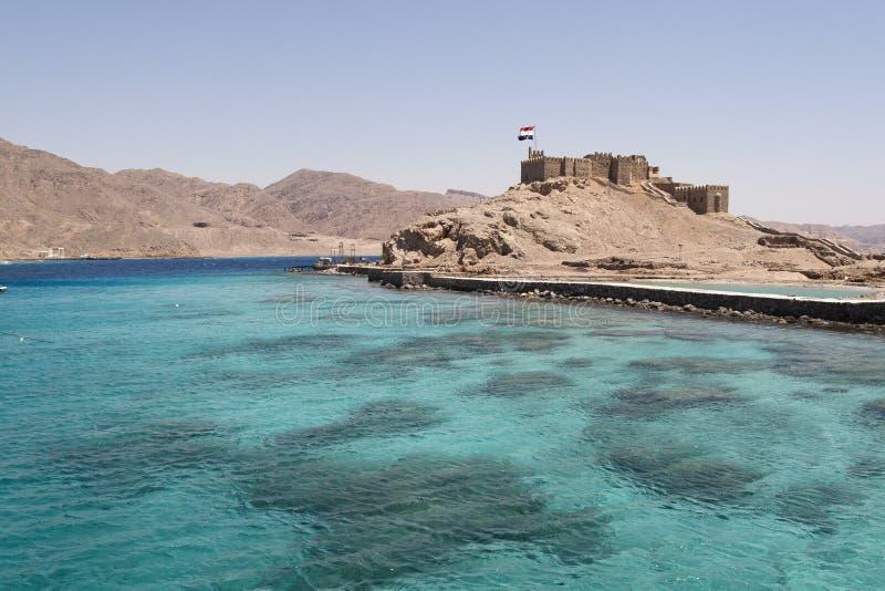Castelo do ruído do EL de Salah perto de Taba em Egipto foto de stock
