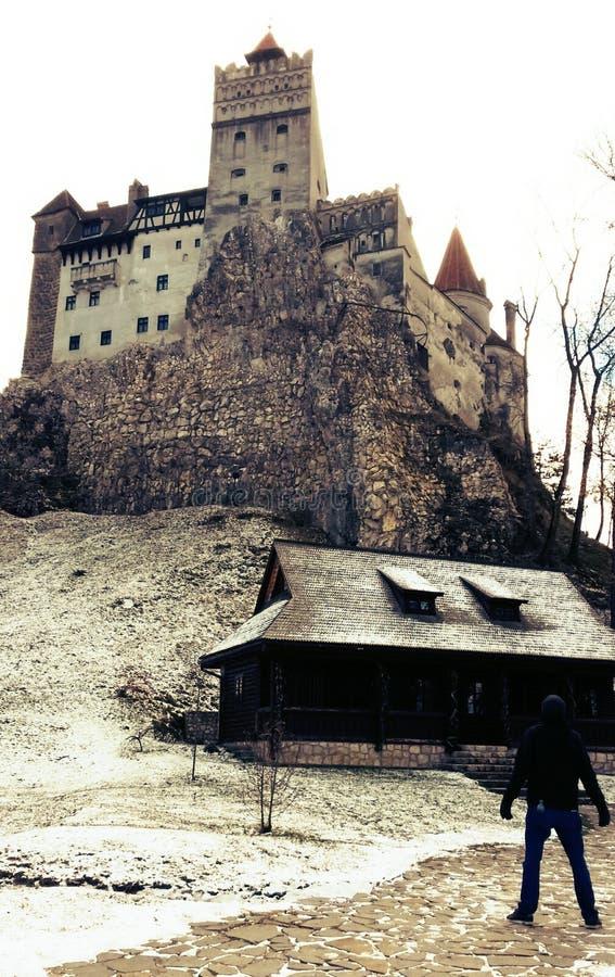 Castelo do ` s de Dracula do castelo do farelo, a Transilvânia, Romênia fotos de stock