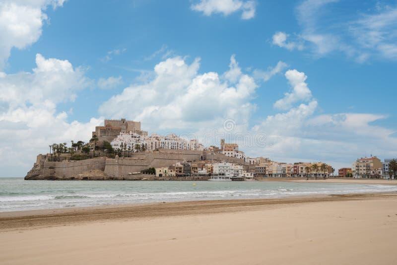 Castelo do ` s do papa Luna Valença, Spain Peniscola Castell O MED foto de stock royalty free