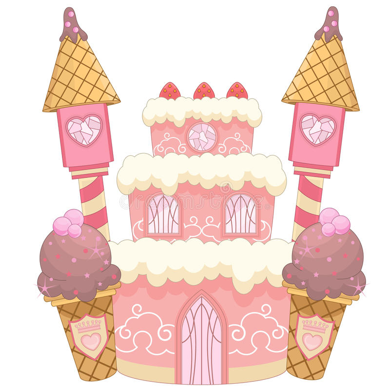 Castelo dos doces ilustração stock