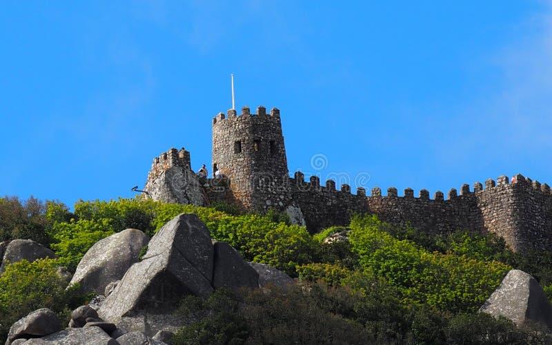 Castelo Dos Mouros Or Castle Of amarra Sintra Portugal imagem de stock royalty free