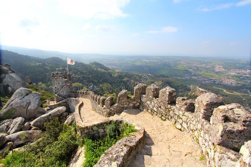 castelo dos mouros sintra zdjęcia stock