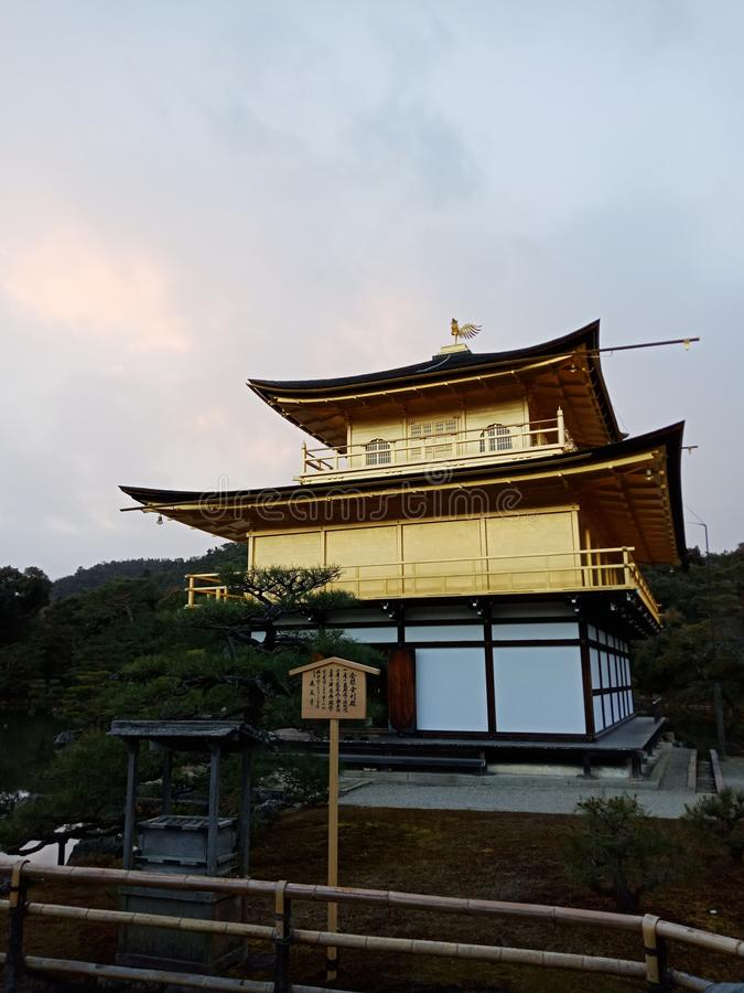 Castelo dourado Kinkakuji Kyoto Japão fotografia de stock royalty free