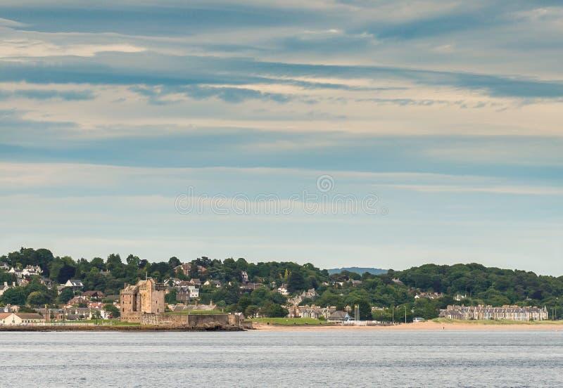 Castelo Dundee de Broughty imagem de stock
