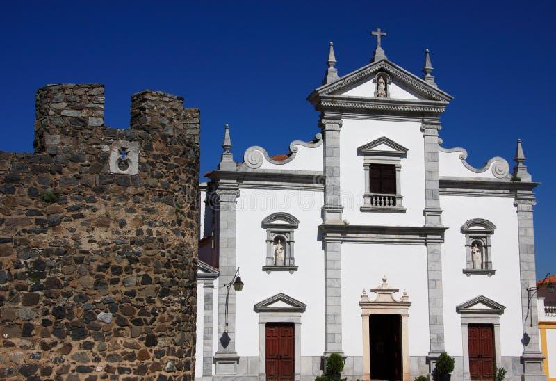 Castelo e catedral de Beja foto de stock royalty free