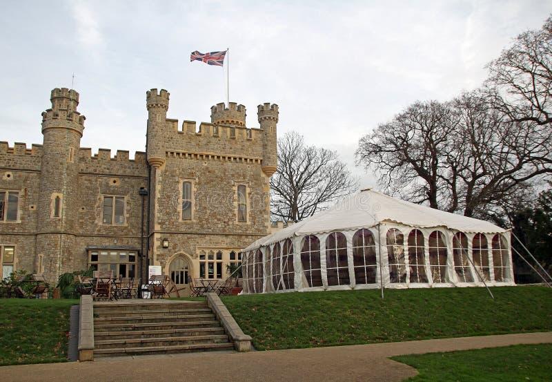 Castelo e famoso imagem de stock royalty free