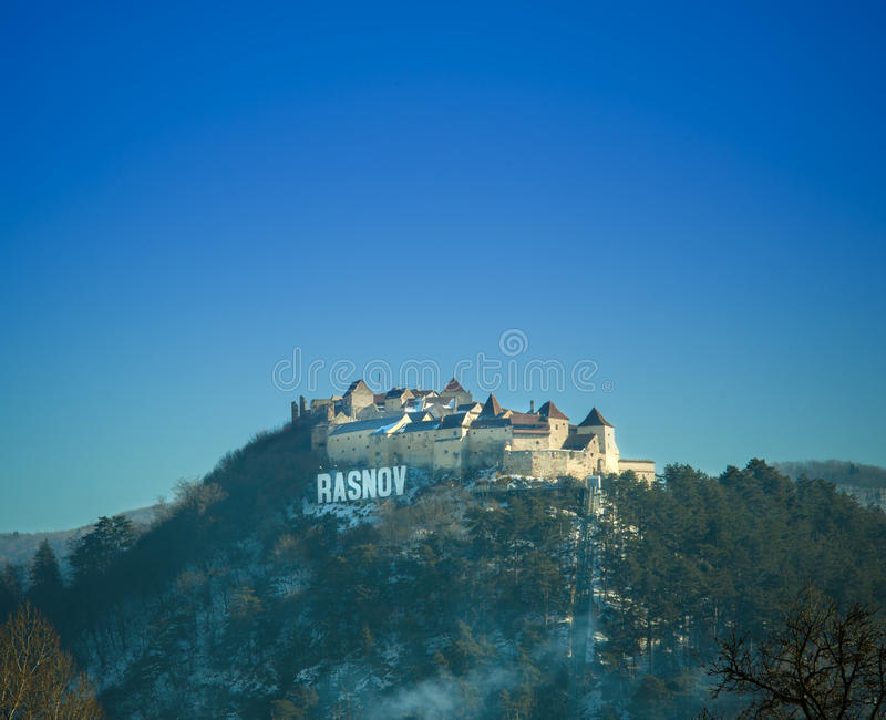Castelo e fortaleza de Rasnov foto de stock royalty free