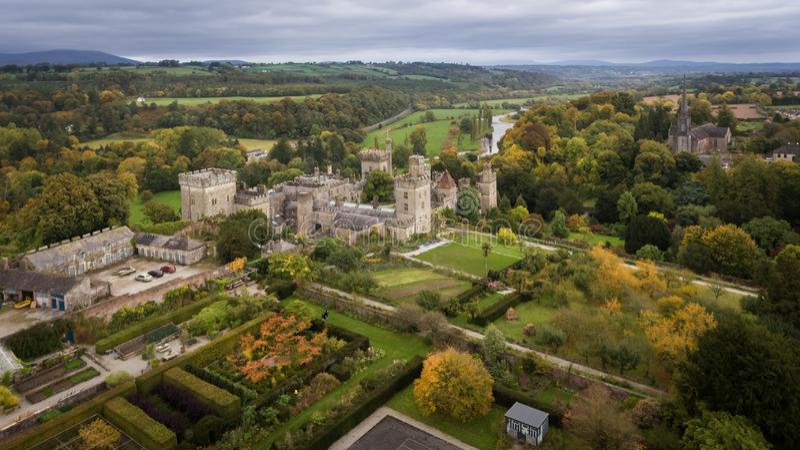 Castelo e jardins de Lismore Condado Waterford ireland imagens de stock