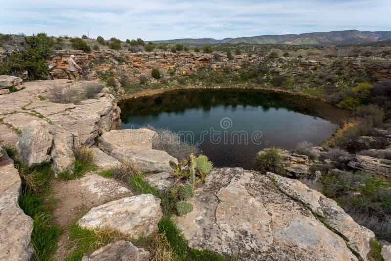 Castelo e poço de Montezuma foto de stock