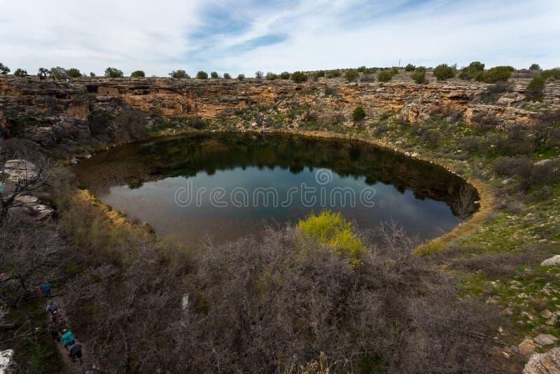 Castelo e poço de Montezuma imagem de stock royalty free
