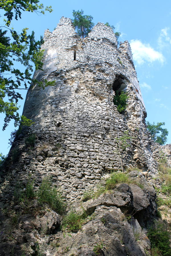 Castelo em Blatnica, Slovakia Europa foto de stock royalty free