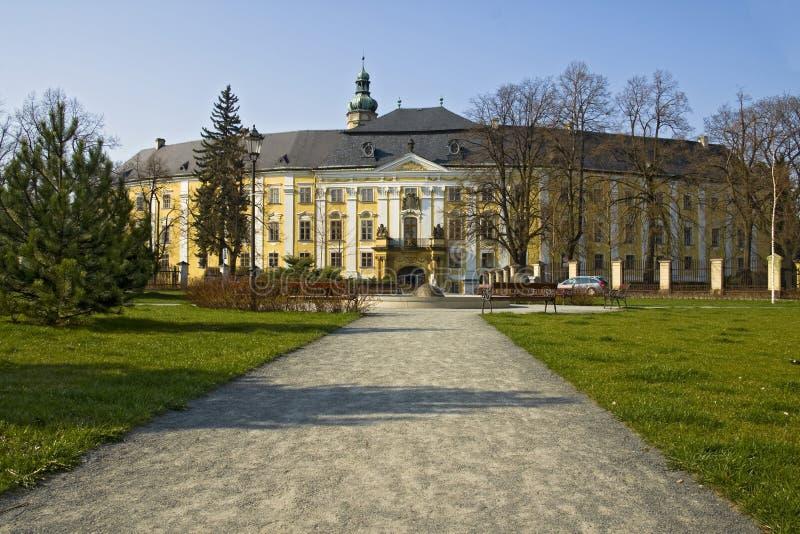 Castelo em Bruntal fotos de stock
