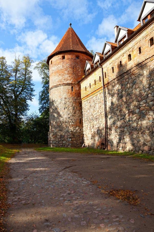 Castelo em Bytow, Poland fotos de stock