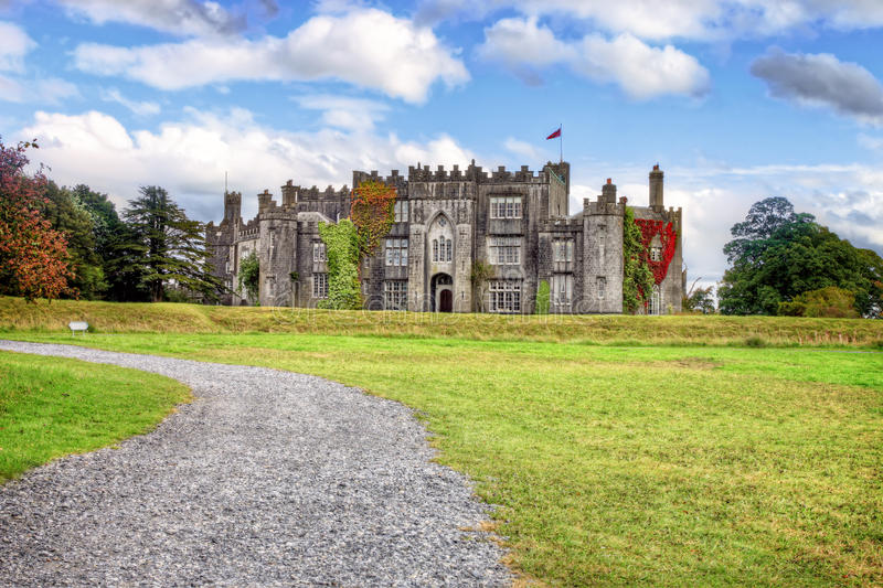 Castelo em Co.Offaly - Ireland do birr. foto de stock