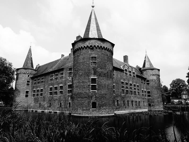 Castelo em Helmond, os Países Baixos foto de stock