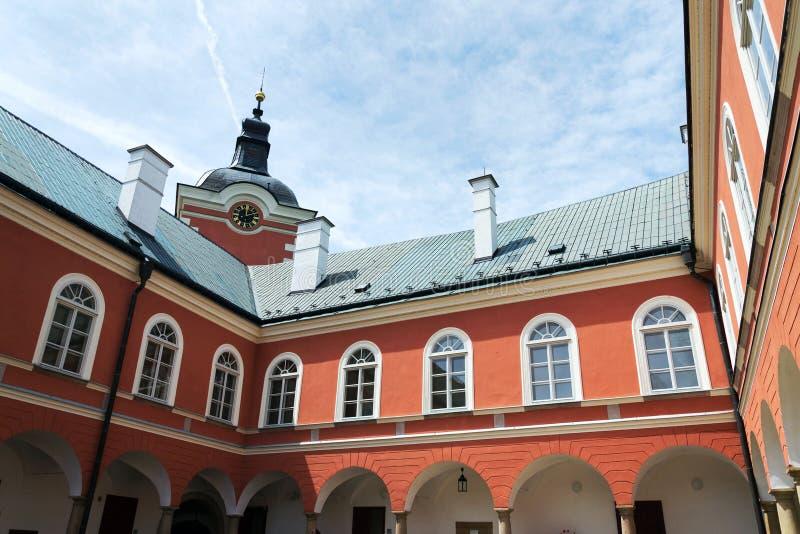 Castelo em Kamenice nad Lipou, região de Vysocina, distrito de Pelhrimov, República Checa imagens de stock