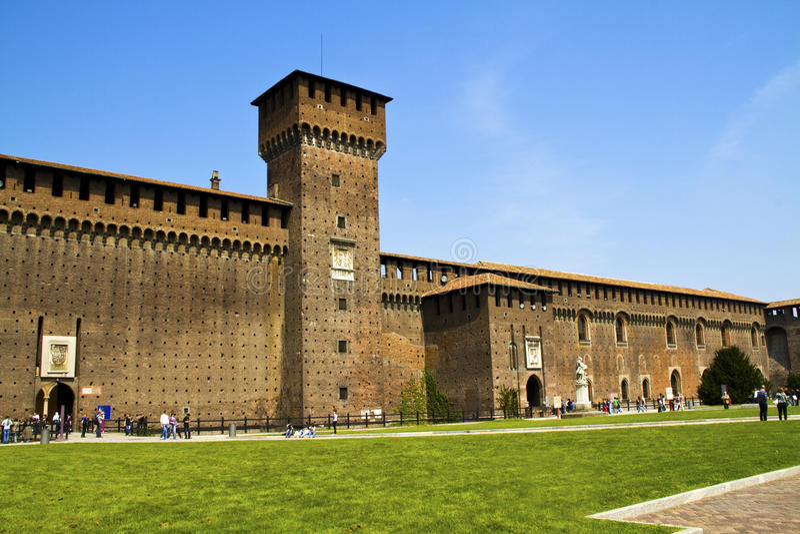 Castelo em Milão fotos de stock