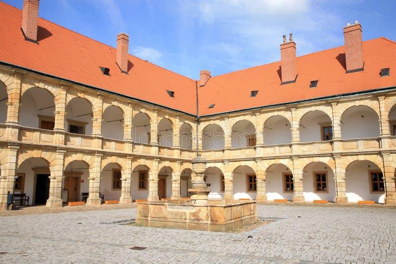 Castelo em Moravska Trebova, República Checa fotografia de stock
