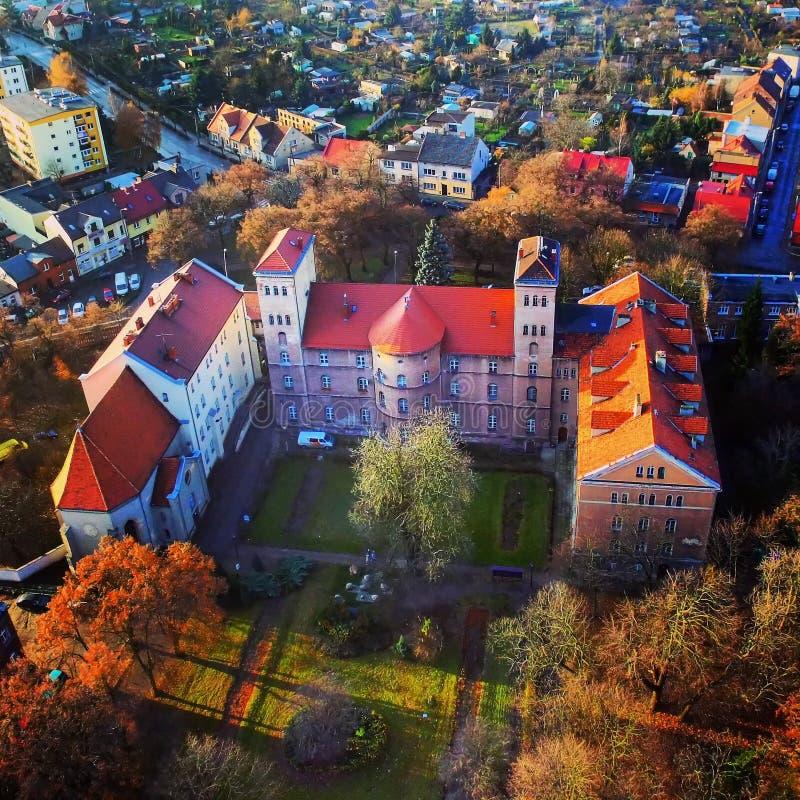 Castelo em nossa cidade fotografia de stock royalty free