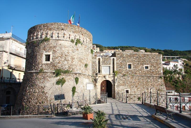 Castelo em Pizzo, Italy, Calabria fotos de stock