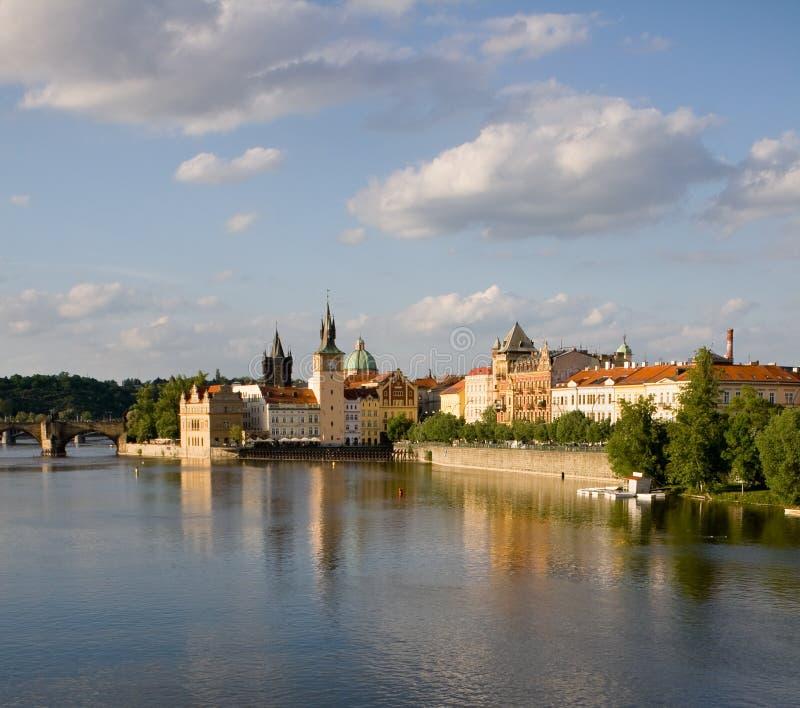 Castelo em Praga fotos de stock
