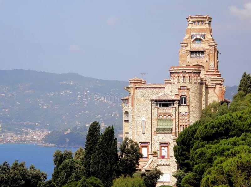 Castelo em Riviera fotos de stock royalty free