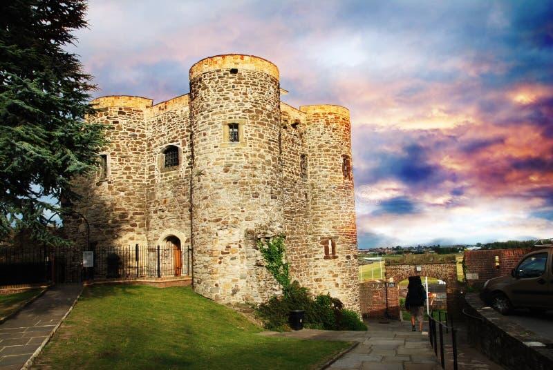 Castelo em Rye fotos de stock