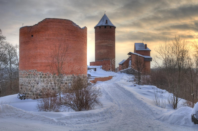 Castelo em Sigulda, Latvia de Turaida foto de stock royalty free