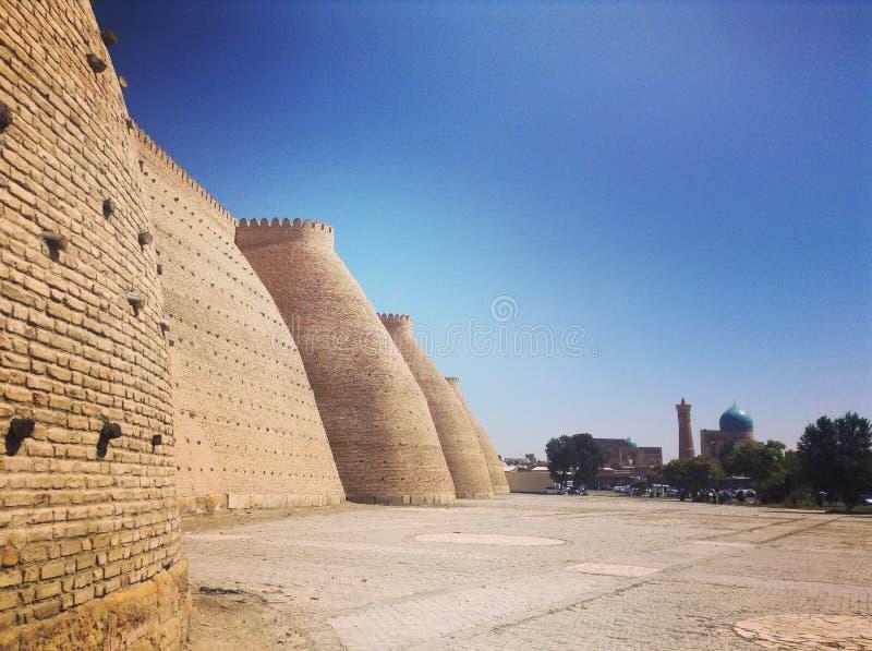 Castelo em Usbequistão fotos de stock