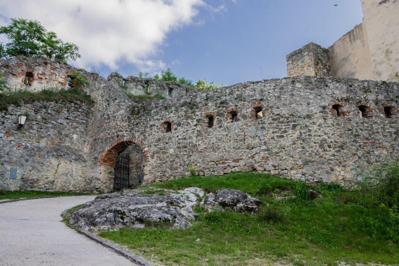 Castelo Eslováquia de Trencin imagem de stock royalty free