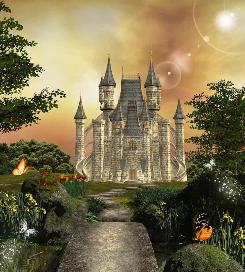 Castelo fabuloso ilustração stock