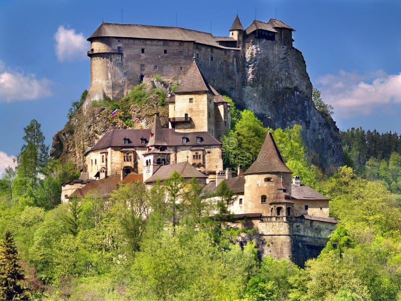 Castelo famoso de Orava, Slovakia fotos de stock