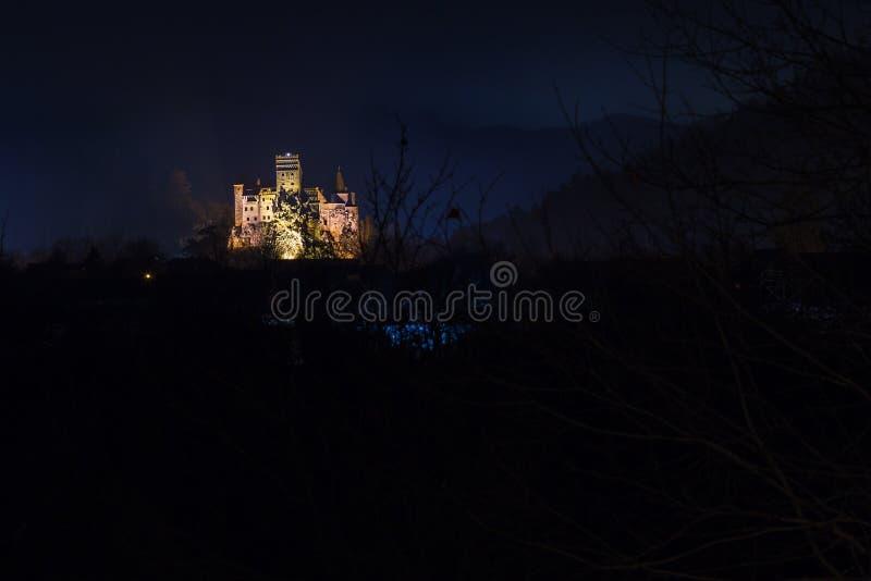Castelo famoso do farelo em Romênia fotos de stock royalty free