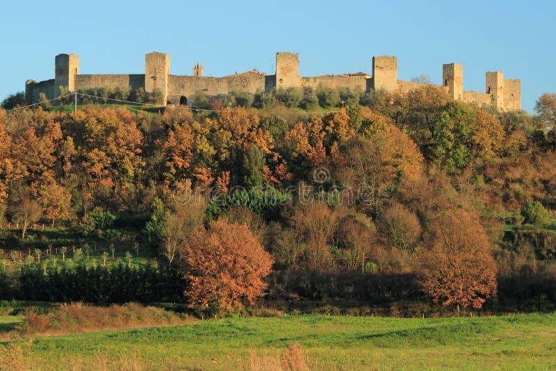 Castelo fantástico de Monteriggioni imagens de stock