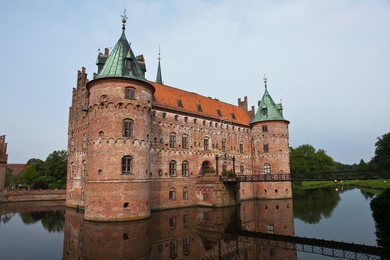 Castelo Fiónia Dinamarca de Egeskov fotografia de stock royalty free