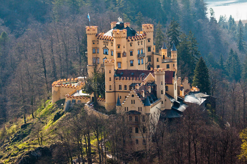 Castelo Fussen Alemanha de Hohenschwangau fotos de stock royalty free