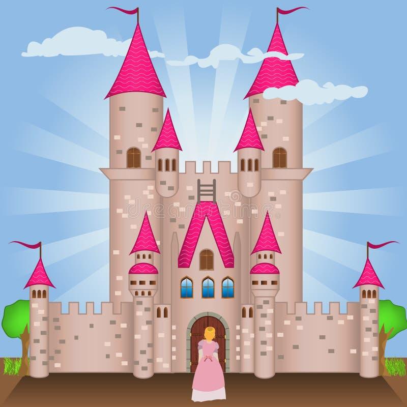 Castelo gótico ilustração do vetor