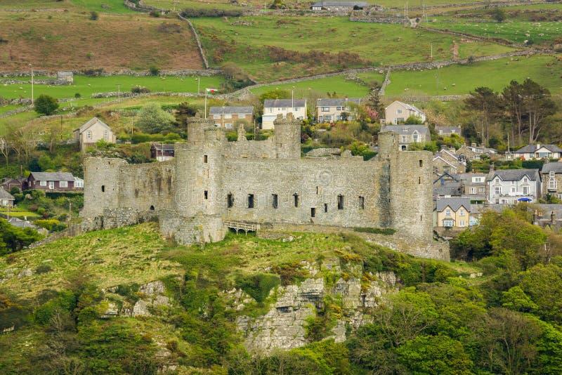 Castelo Gales de Harlech fotografia de stock