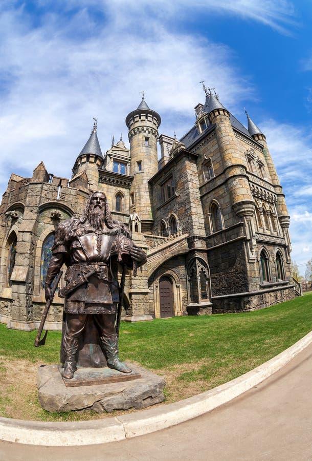 Castelo Garibaldi do centro de turista na região do Samara, Rússia fotos de stock royalty free